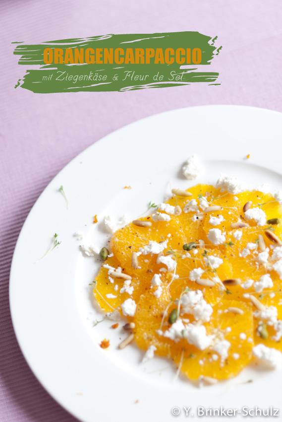 OrangencarpaccioZiegenkäse