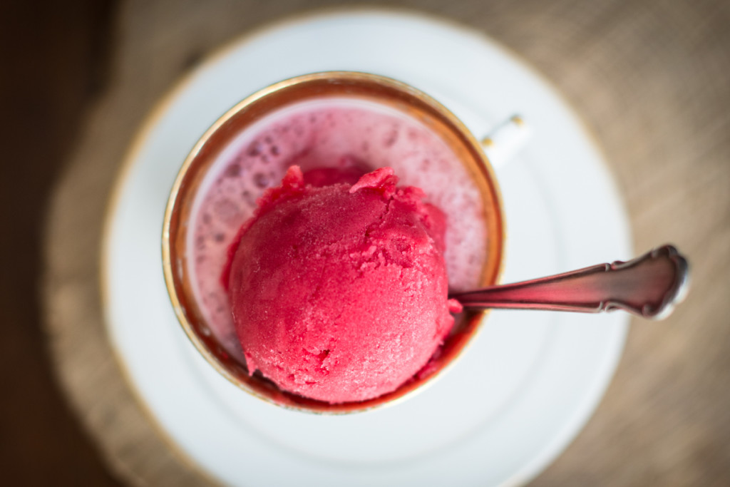 red currant sorbet