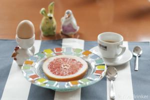 Grapefruit und Ei