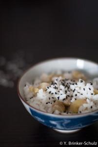Reis mit Maronen